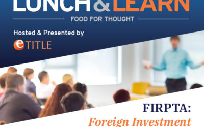 Lunch & Learn: FIRPTA